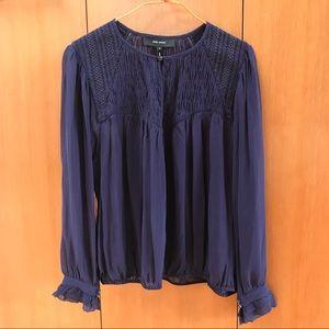 Isabel Marant sheer silk peasant blouse